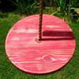 Distressed Disc Wood Tree Swing