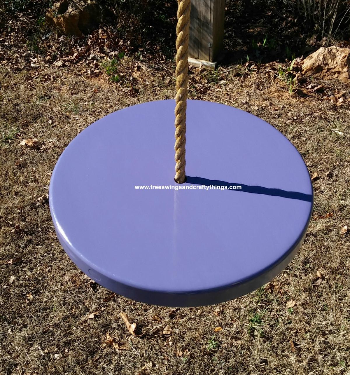 Purple Disc Tree Swing