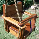 Sapele Kids Seat Swing