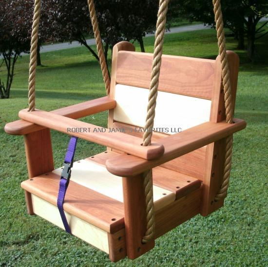 Cherry Maple Kids Seat Tree Swing