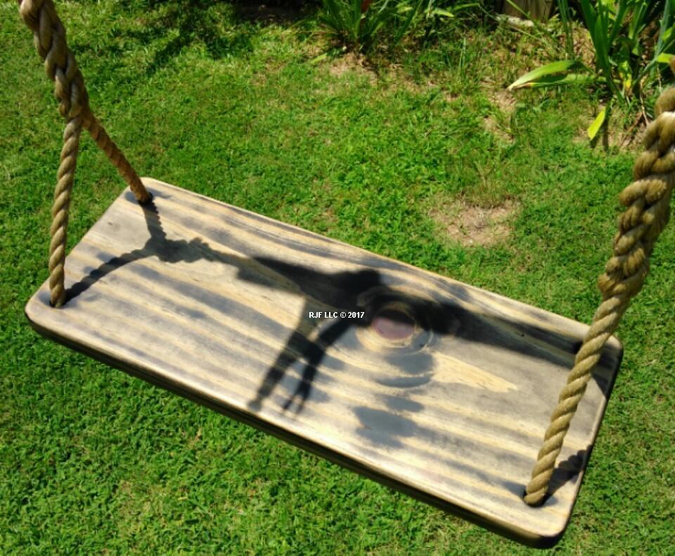 Black Distressed 4 Hole Swing