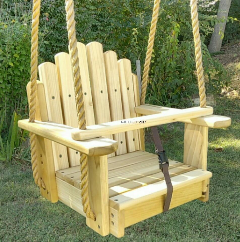 Sun Burst Poplar Kids Seat Swing
