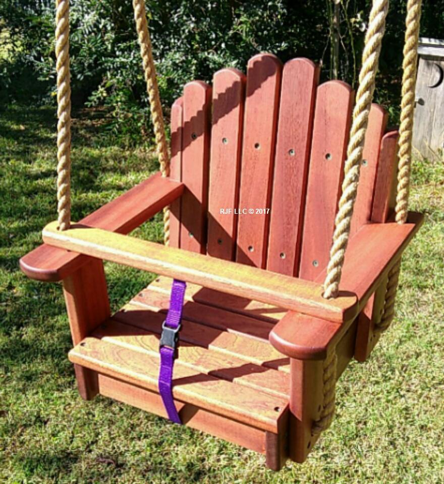 Sun Burst Sapele Kids Seat Swing