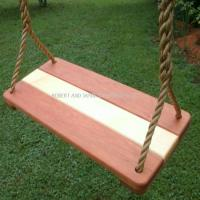 Cherry Maple Wide Wood Tree Swing