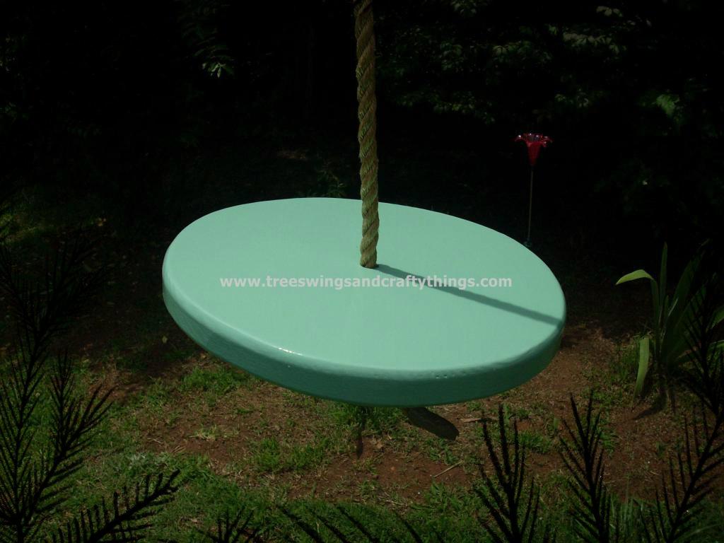 Mint Green Disc Tree Swing