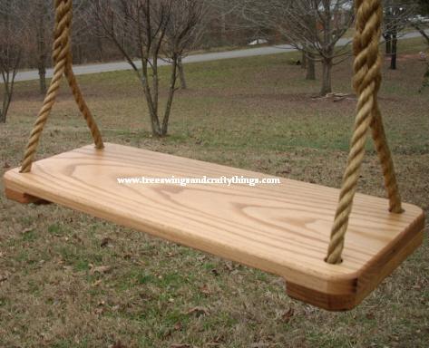 9 Inch Red Oak Wood Tree Swing