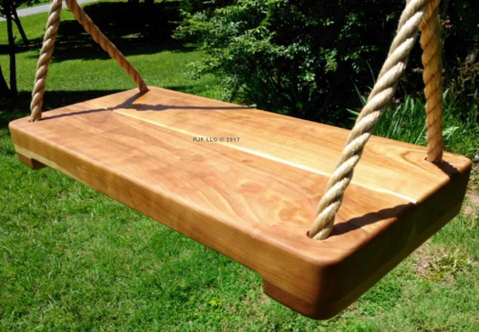 Cherry Thick Wood Tree Swing