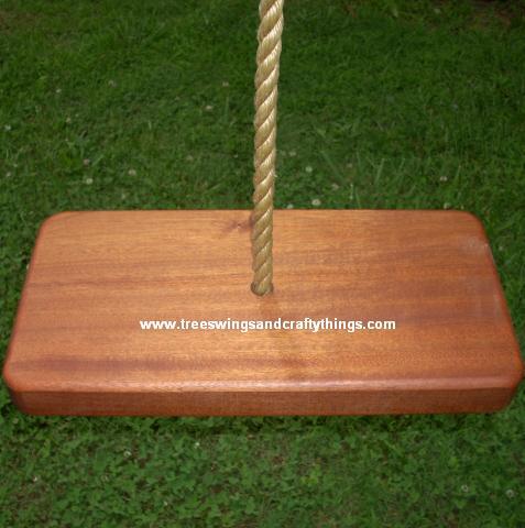 Sapele 1 Hole Wood Tree Swing