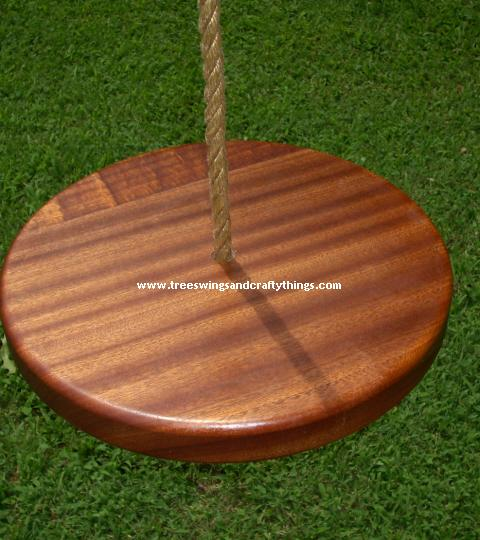 Sapele Disc Wood Tree Swing