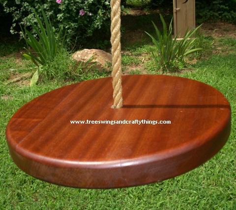 Sapele Disc Wood Tree Swing