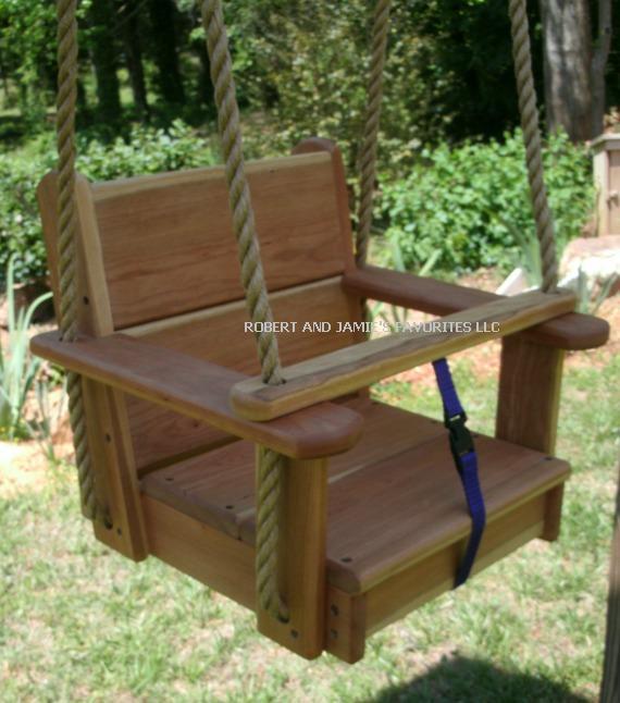 Premium Cherry Kids Seat Swing