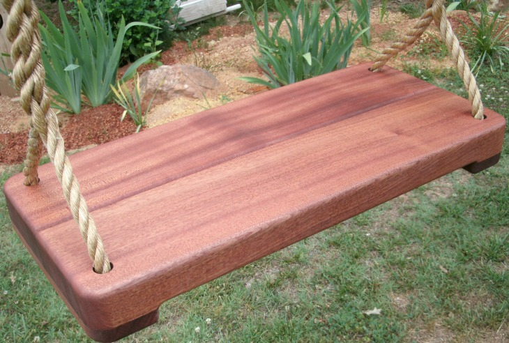 Sapele Thick Wide Tree Swing