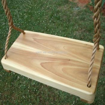 Poplar Wide Wood Tree Swing
