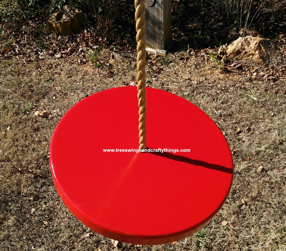 Painted Red Disc