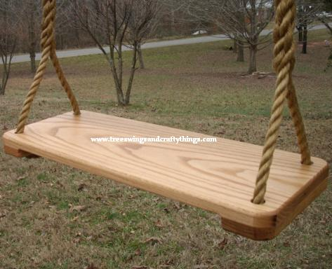 9 Inch Red Oak Wood Tree Swing