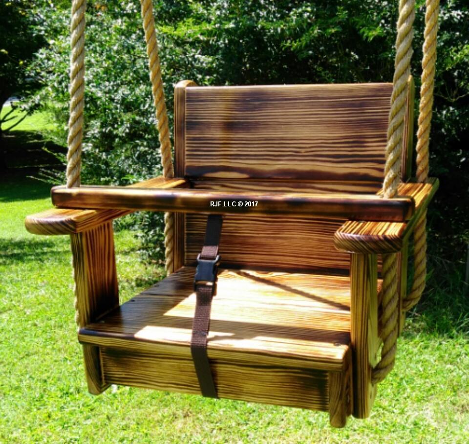 Charred Kids Seat Swing