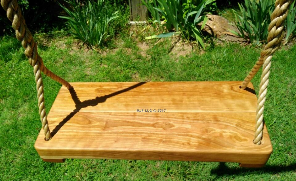 Cherry Thick Wood Tree Swing