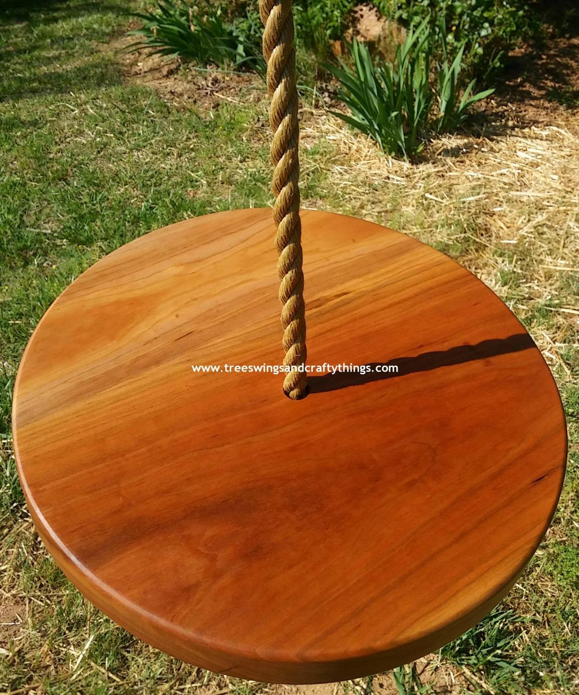 Cherry Disc Wood Tree Swing