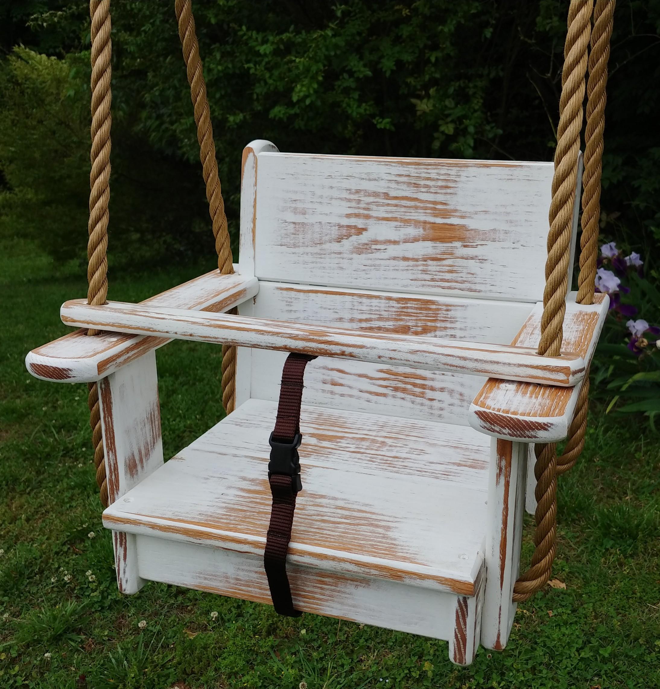 Distressed Seat Swing (White)