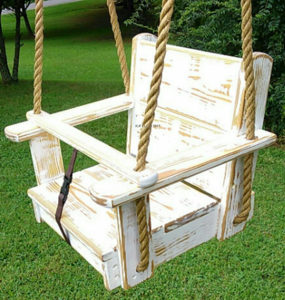 Distressed Design Kids Seat Swing