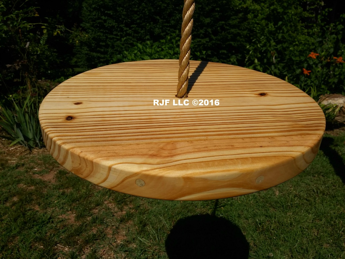 Pine Disc Wood Tree Swing