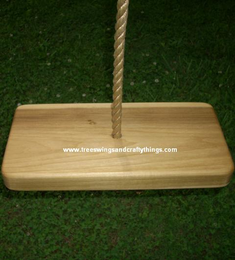 Poplar 1 Hole Wood Tree Swing
