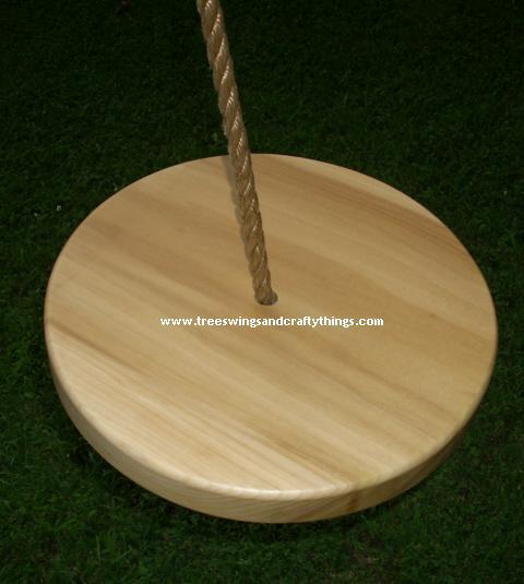 Poplar Disc Wood Tree Swing