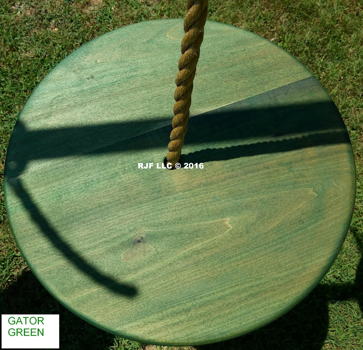 Alligator Green Poplar Disc Ghost Stain Series