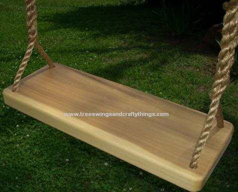 Poplar 4 Hole Wood Tree Swing