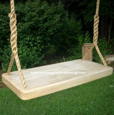 Red Oak Wide Thick Tree Swing