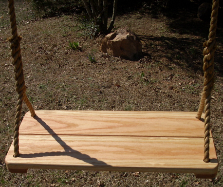 Red Oak Wide Wood Tree Swing