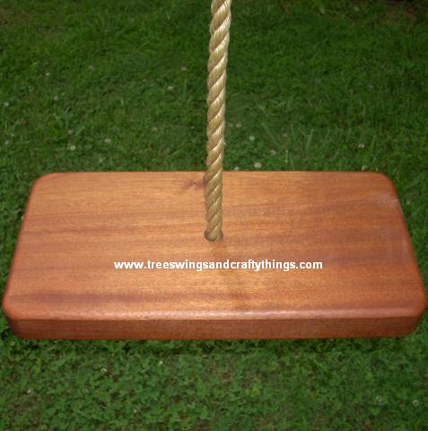 Sapele 1 Hole Tree Swing