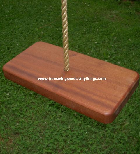 Sapele 1 Hole Wood Tree Swing