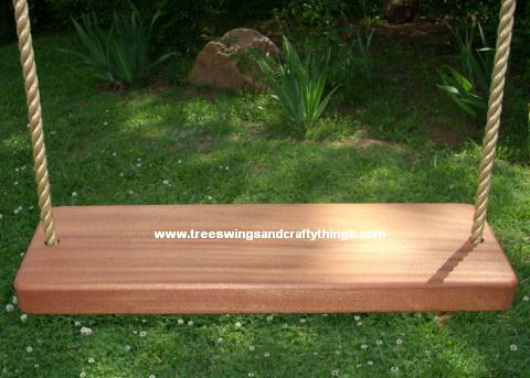 Sapele 2 Hole Wood Tree Swing