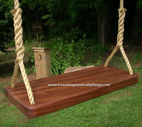 Sapele Thick Tree Swing