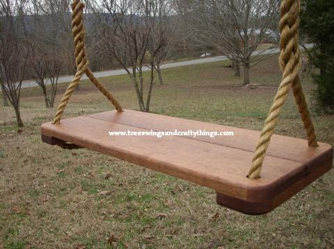 Sapele Wide Tree Swing