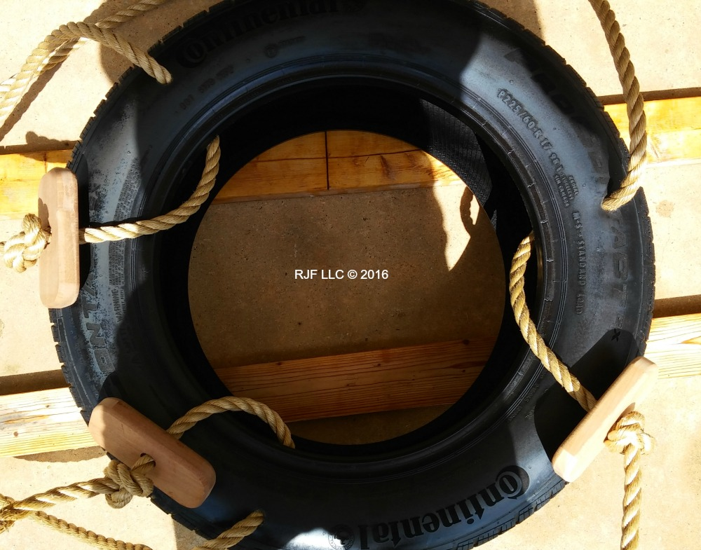 Repalcement rope and hardware for Tire Tree Swing