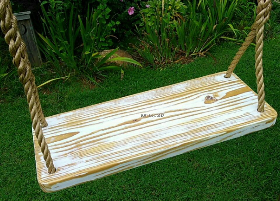White Distressed 4 Hole Swing