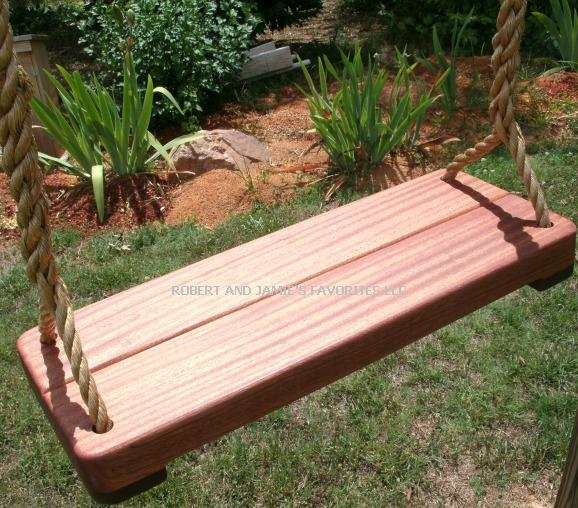 Sapele Thick Wood Tree Swing