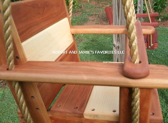 Premium Kids Cherry Maple Seat Swing