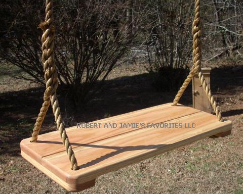 Red Oak Wide Wood Tree Swing