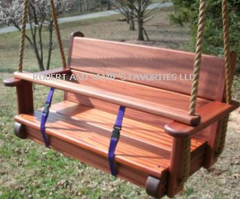 Sapele Twinster Kids Seat Swing