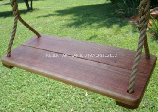 Cherry Wide Wood Tree Swing