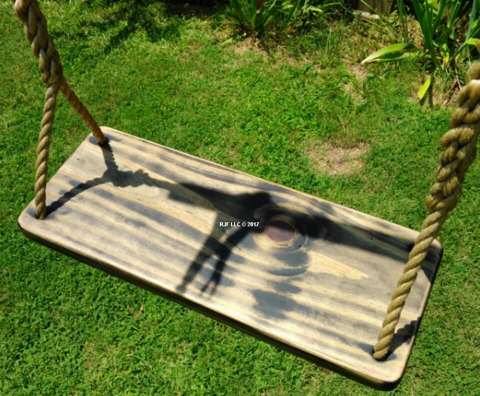 Black Distressed 4 Hole Swing