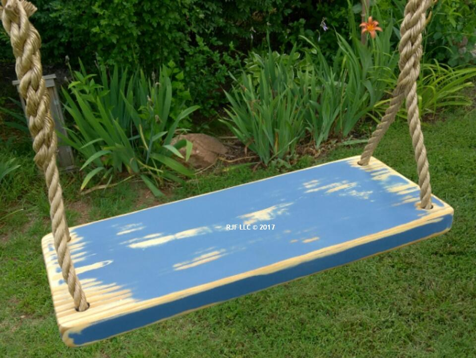 Blue Distressed 4 Hole Swing