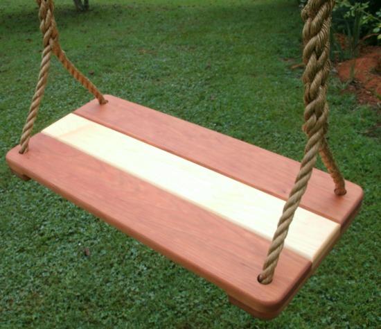 Hard Maple Kids Seat Swing
