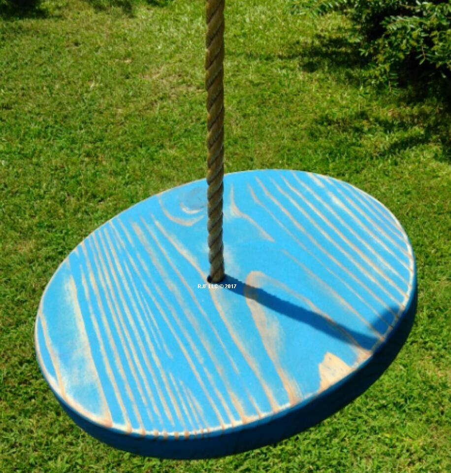 Blue Distressed Disc Swing