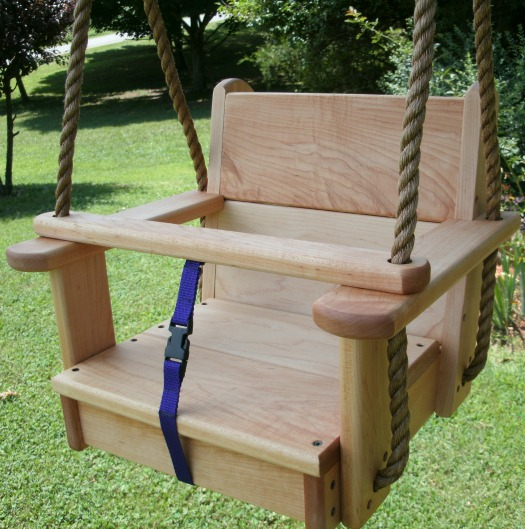 Hard Maple Kids Seat Swing