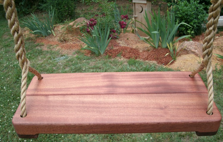 Sapele Wide Thick Wood Tree Swing