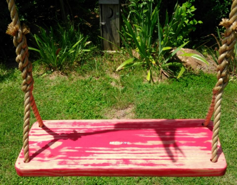 Red Distressed 4 Hole Swing